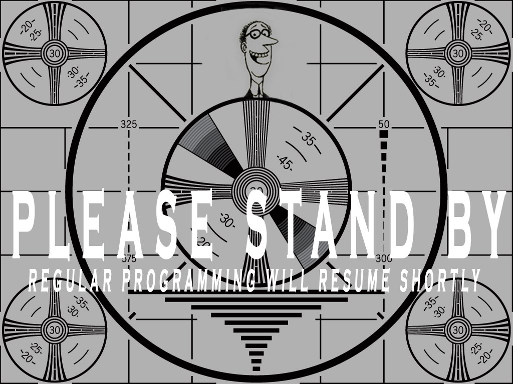 stand by the show will resume shortly matthew s