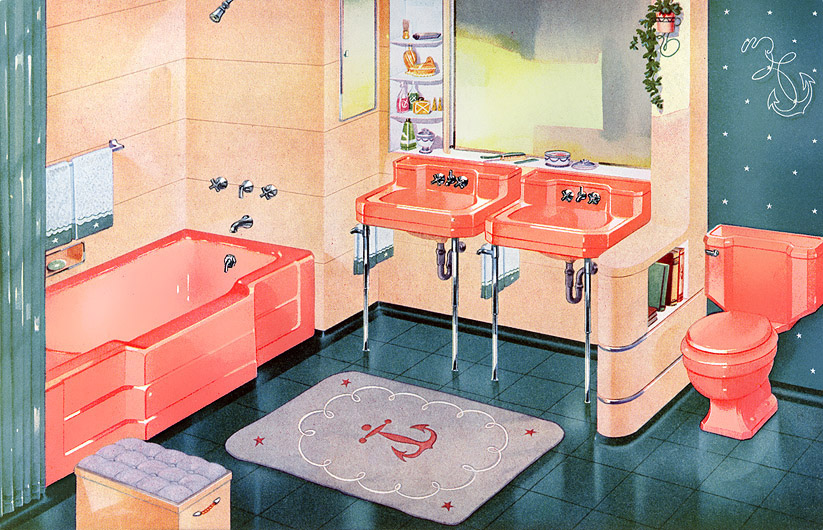 1950s bathroom decor matthew 39 s island of misfit toys for Bathroom ideas 1940