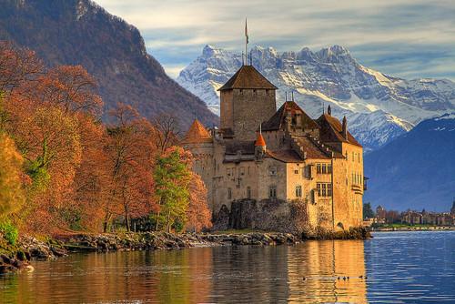 Chateau Chillon Near Montreux Switzerland Matthew S