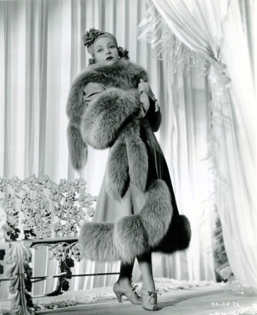 Ann Sothern, in fur