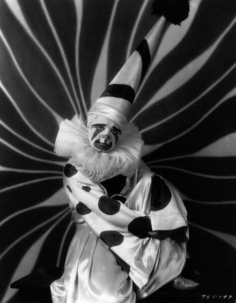 Clara Bow as a clown