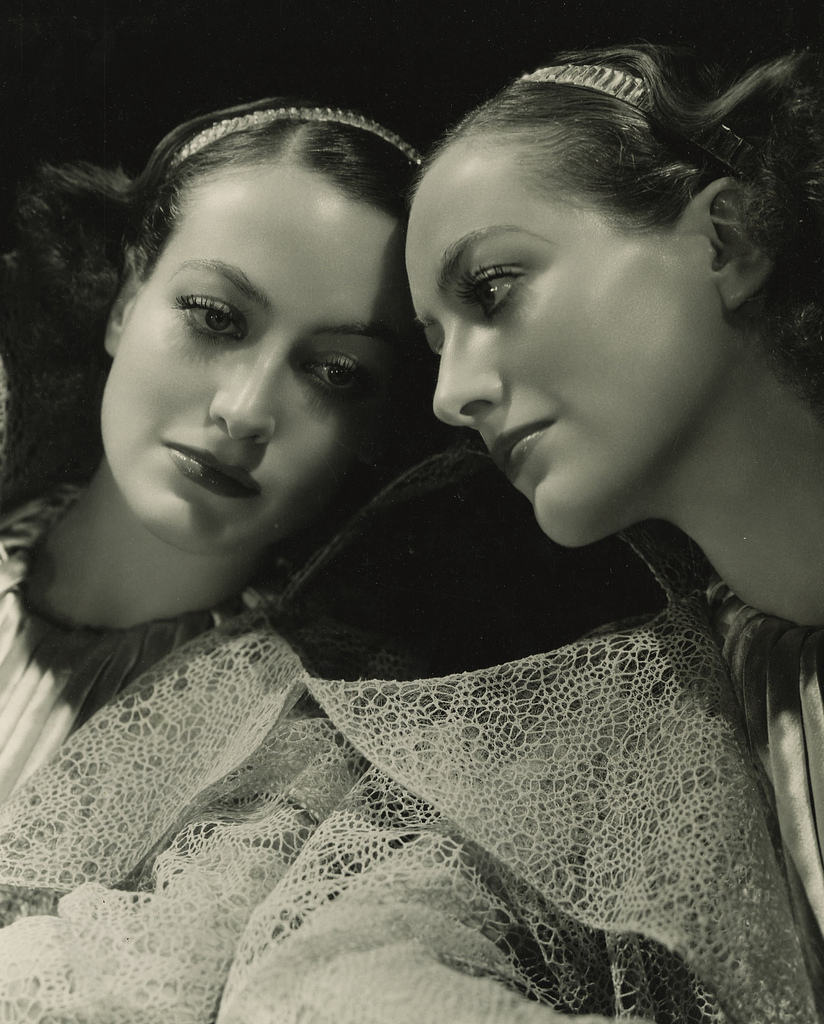 Joan Crawford and her reflection