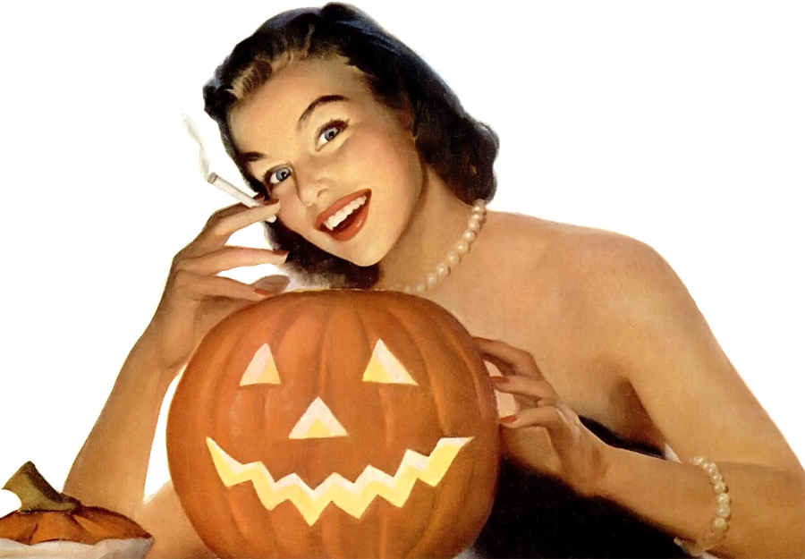 Have a jack o'lantern and a smoke