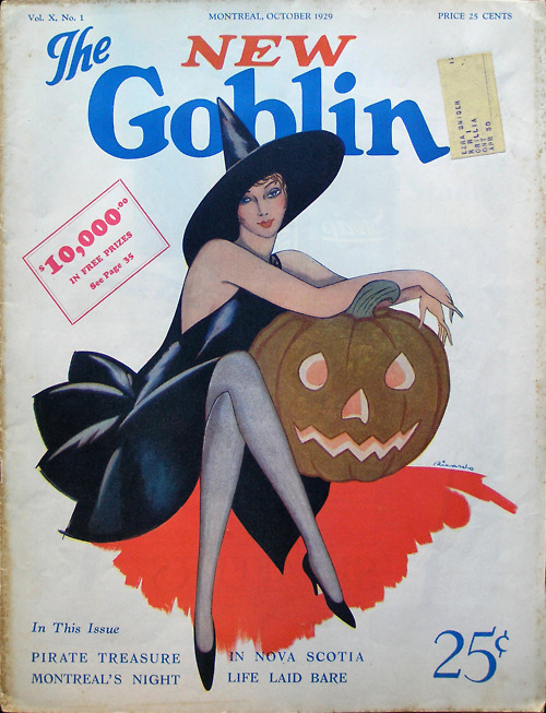 "The New Goblin, 1929, featuring an article on ""Montreal's night life laid bare"""