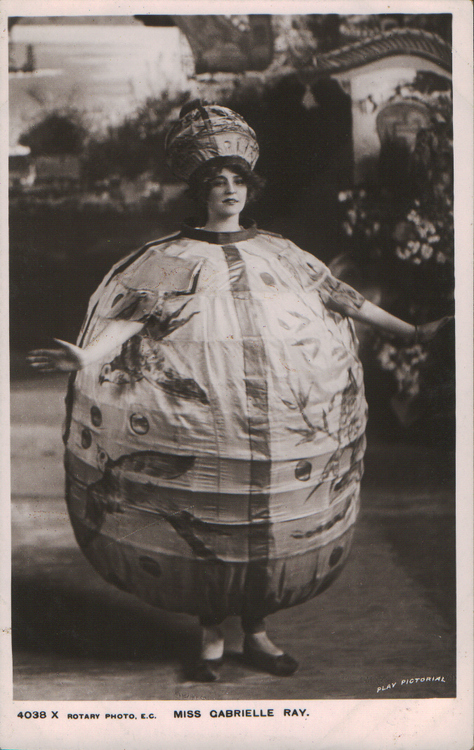 Miss Gabrielle Ray, as a Chinese paper lantern