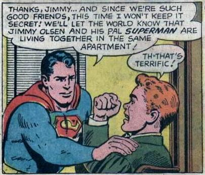 "Superman, secretly living together with his ""pal"""