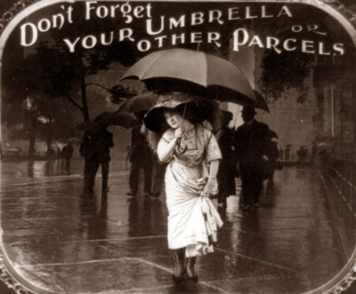 Don't forget your umbrellas and otherparcels