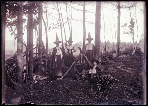 Four witches and a cauldron