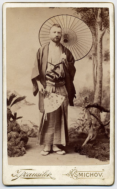 Russian man in Japaneseoutfit?
