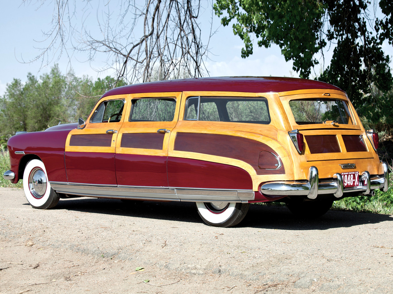 1948 Hudson Commodore Station Wagon, with wood trim