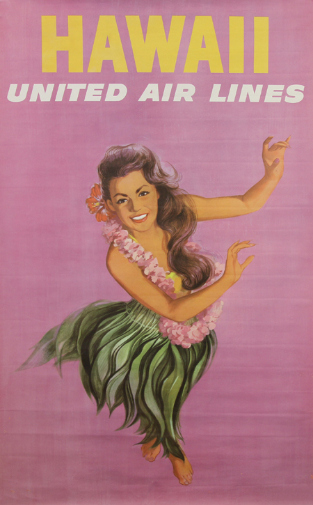 Hawaii via United Airlines, 1960s