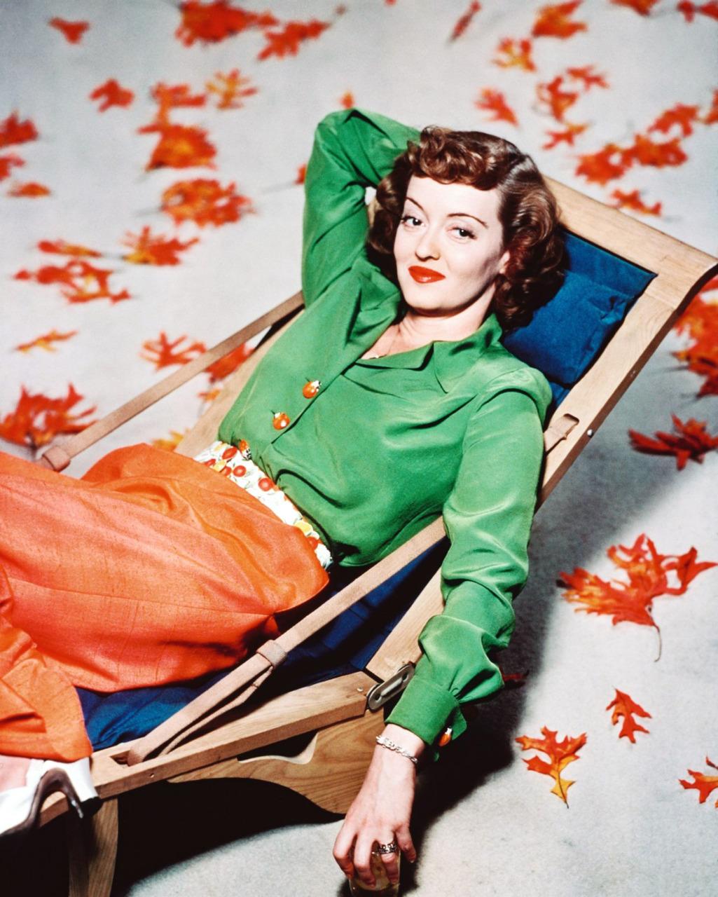 Autumn portrait of BetteDavis