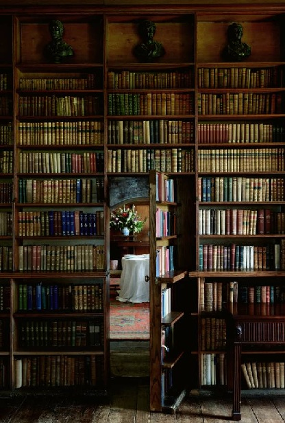 Bookcase leading into a secretroom