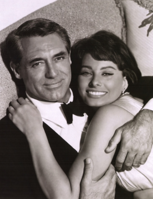 Sophia Loren and Cary Grant, 1958