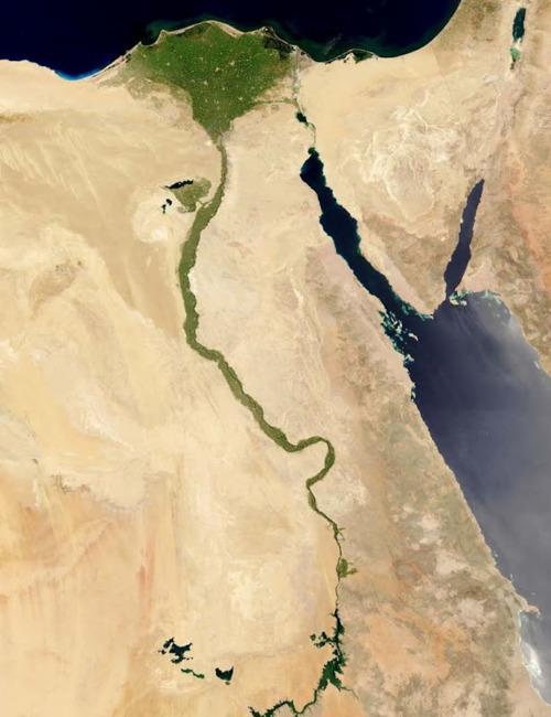 Egypt, as seen from asatellite