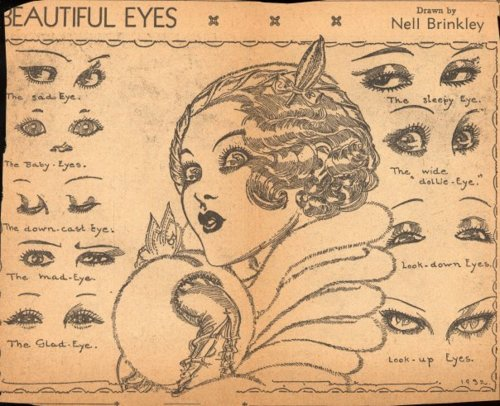 Flapper Eye Makeup, 1920s