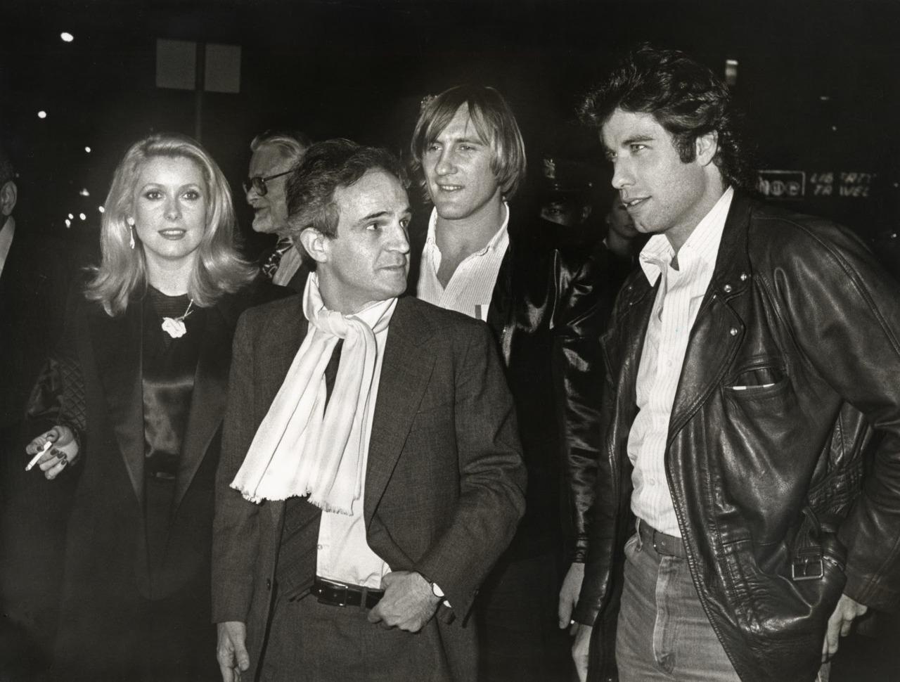 Catherine Deneuve, Francois Truffaut, Gerard Depardieu, and JohnTravolta