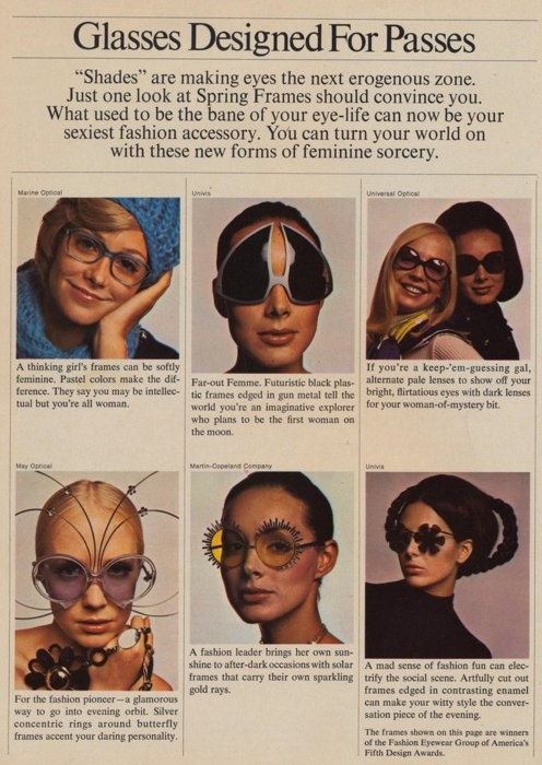 Glasses Designed for Passes, 1970s
