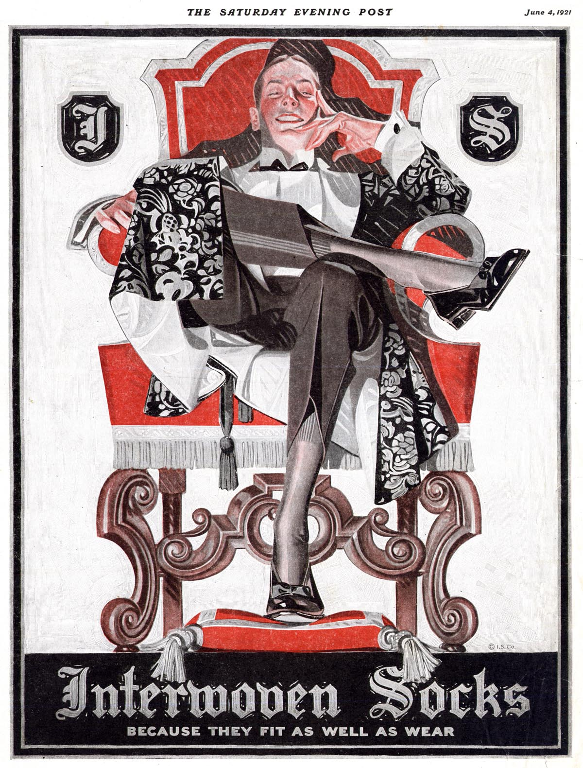 Leyendecker for Interwoven Socks