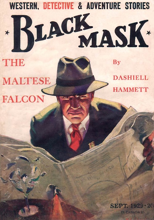 The Maltese Falcon by Dashiell Hammett in Black Mask magazine, 1929