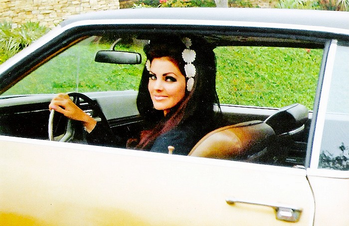 Going for a ride with Priscilla Presley