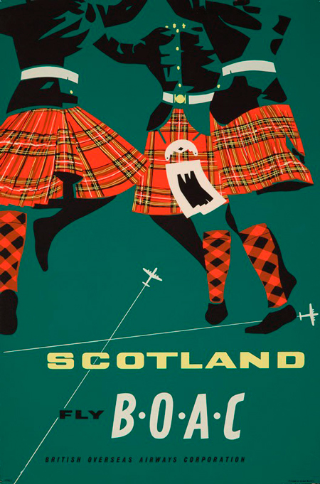 Scotland via BOAC