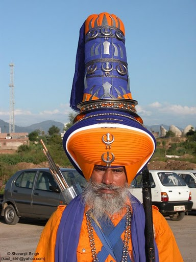 Sikh, with a major headpiece