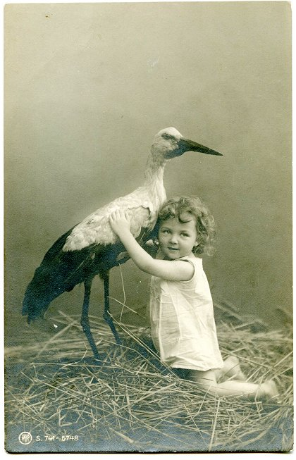 Stork and Child