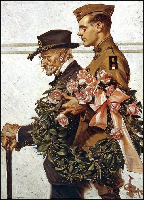 Remembrance Day, Veteran's Day, or Armistice Day (by Leyendecker)