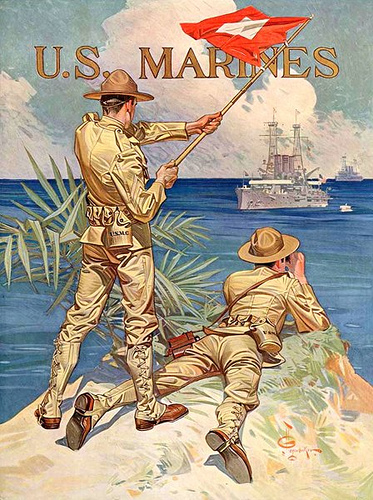 US Marines, pre-WW I, by Leyendecker
