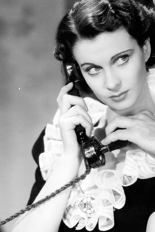 Vivien Leigh on the phone