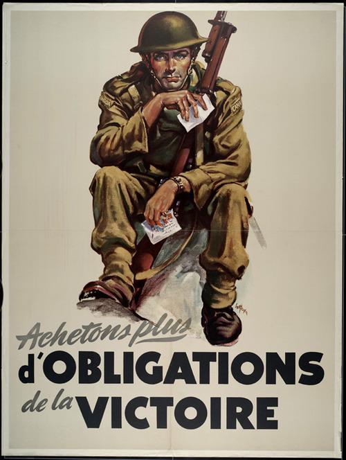 Achetons plus d'obligations de la victoire (Quebec, WWII)