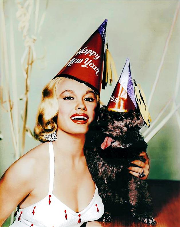 Happy New Year, 1955, from Mamie VanDoren