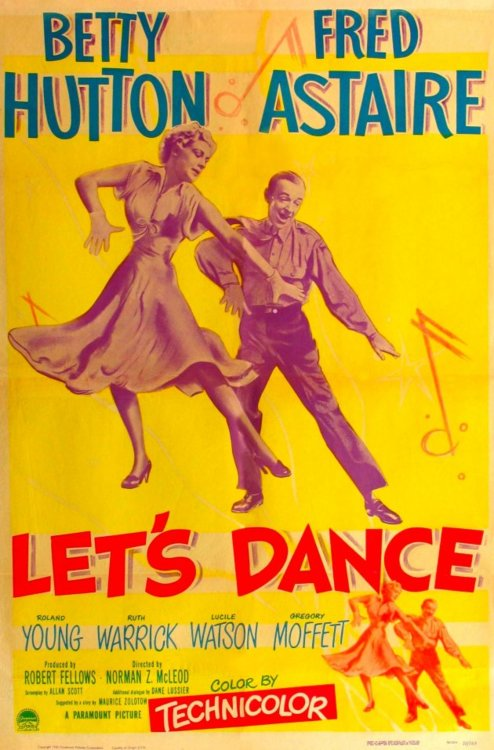 """Betty Hutton and Fred Astaire in """"Let's Dance"""""""
