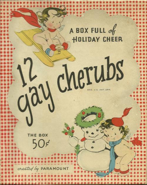 A box full of holiday cheer – 12 gaycherubs!