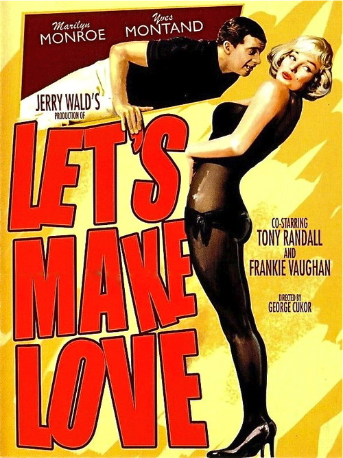 "Marilyn Monroe and Yves Montand in ""Let's Make Love"""