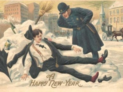 Happy New Year – but maybe take it a little easy with the drinking, lest you wake up in a snow banktomorrow