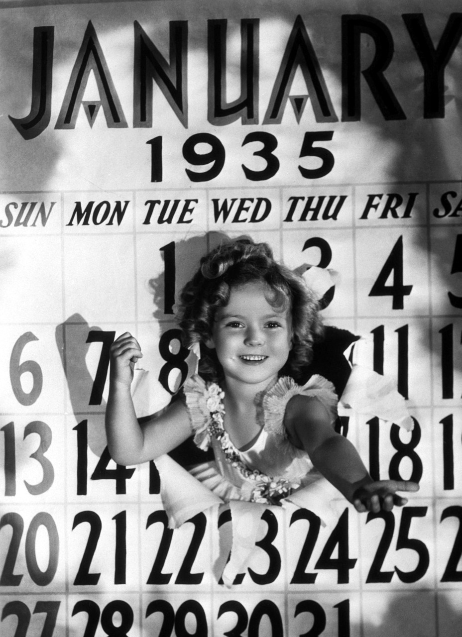 Happy New Year 1935 from Shirley Temple