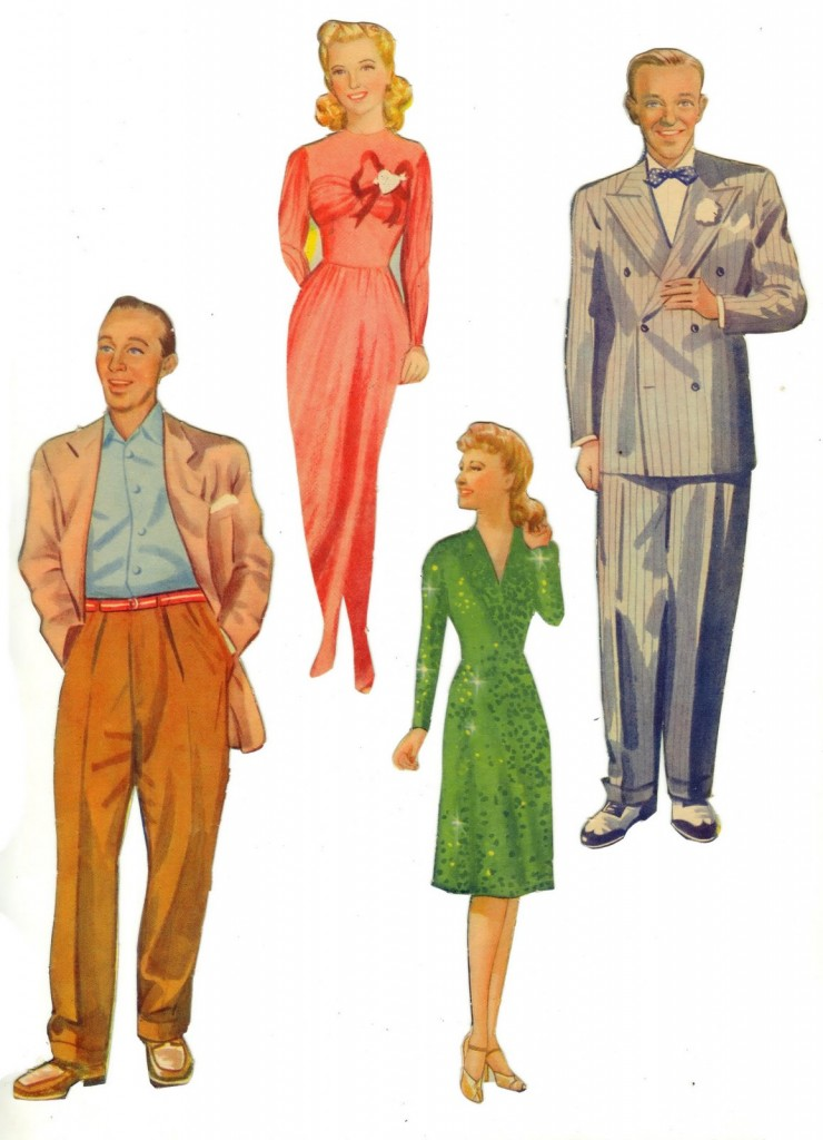 Old Hollywood Stars as Paper Dolls (Early 1940s?)