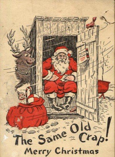 Santa on thecrapper