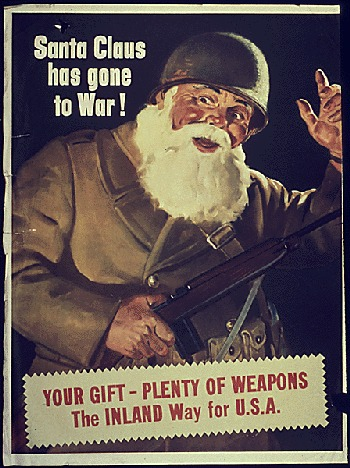 Santa Claus has gone to war