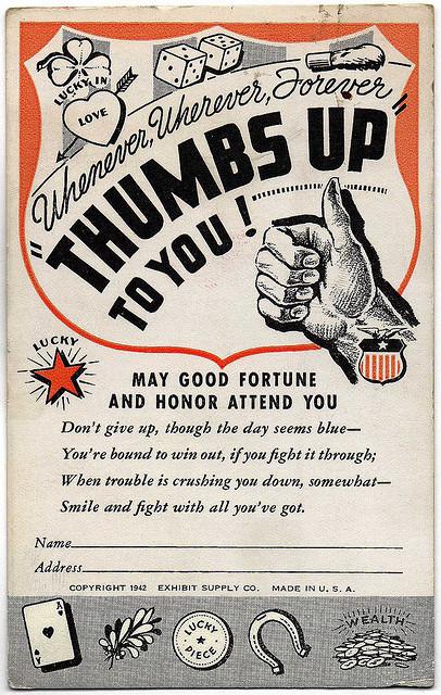 Good Luck Card,1942