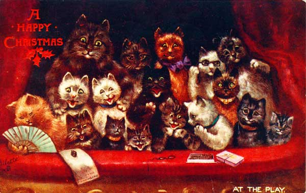A Happy Christmas, from a bunch of cats in a balcony theatrebox