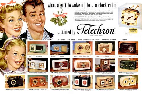 Clock radios – late1940s