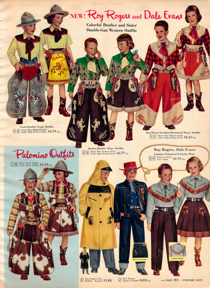 Cowboy outfits for kids, 1950s