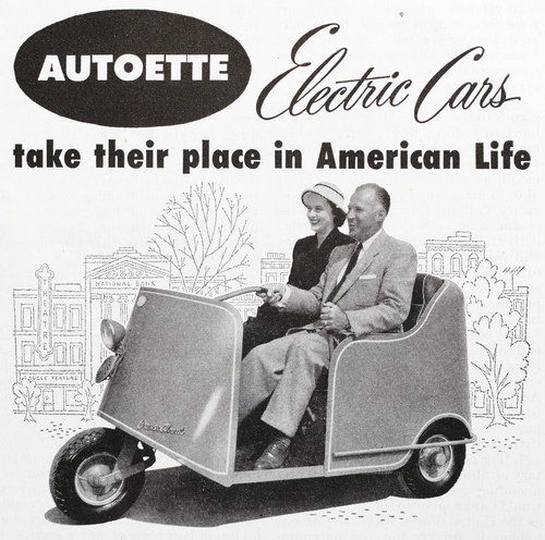 Electric cars take their place in American life (1950s)