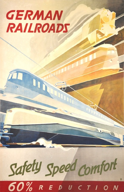 German Railroads Poster, I'm guessing like around1950