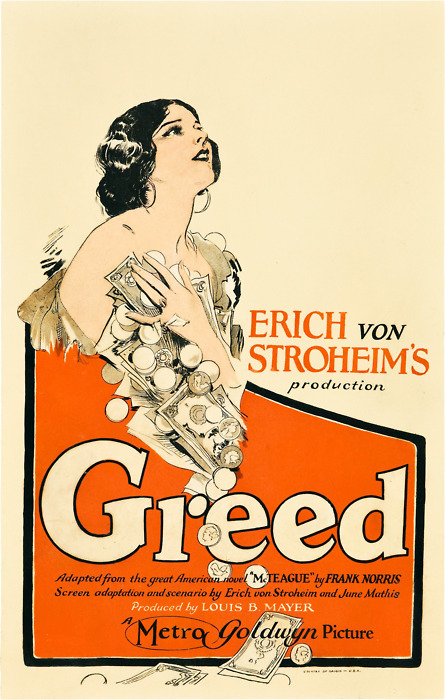"Erich Von Stroheim's production of ""Greed"""