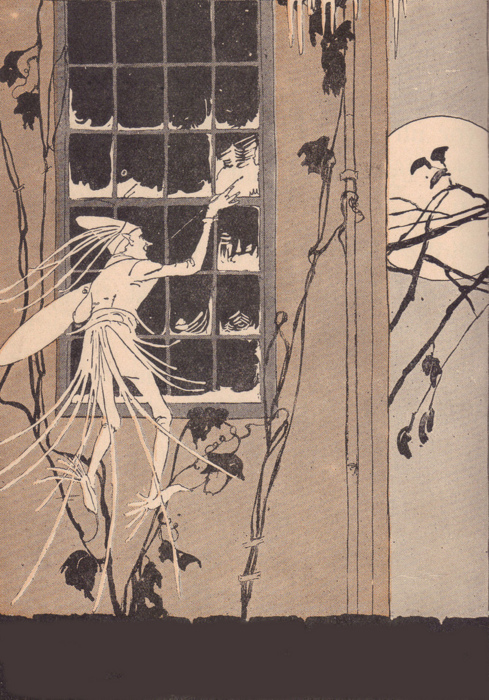 Jack Frost, painting the windows (circa 1900?)