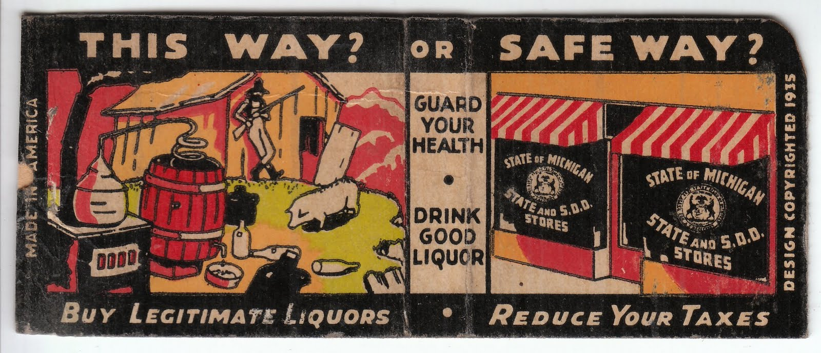 Buy legitimate liquor, not moonshine